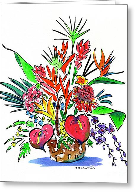 Tropical Basket Greeting Card