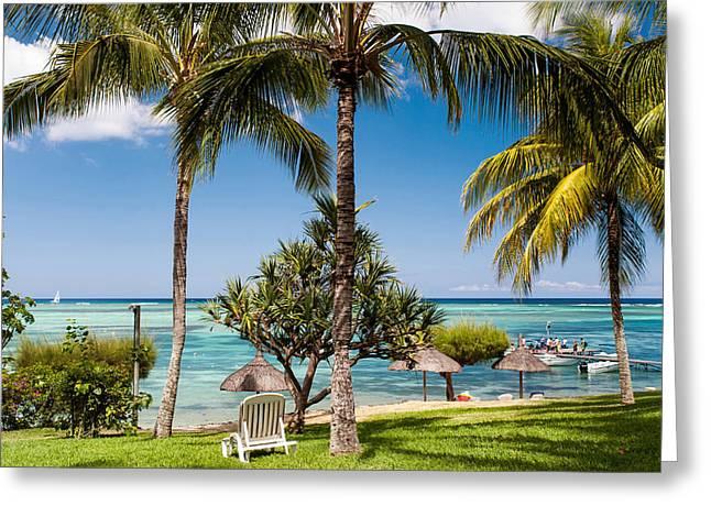 Tropical Beach. Mauritius Greeting Card by Jenny Rainbow