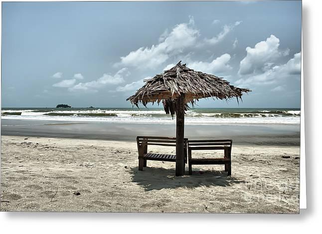 Tropical Beach View Greeting Card