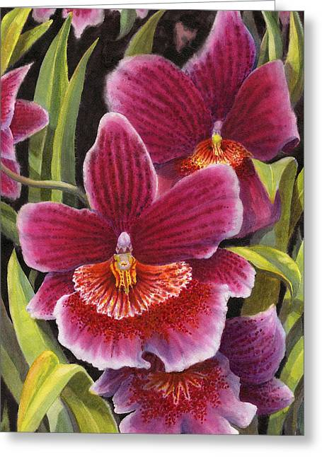 Tropical Beauties 2 Greeting Card by Karen Wright