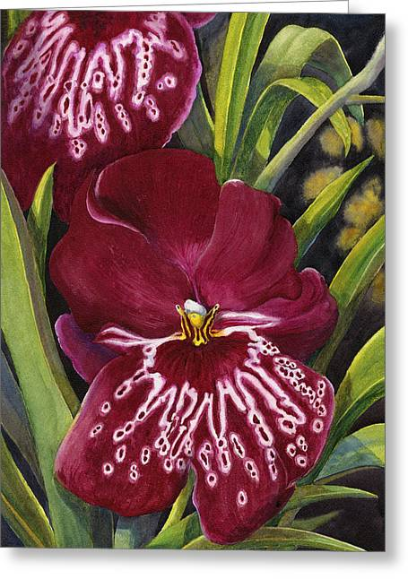 Tropical Beauty 1 Greeting Card by Karen Wright