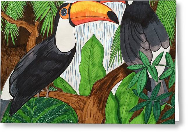 Toucans Greeting Card by Ethan Altshuler