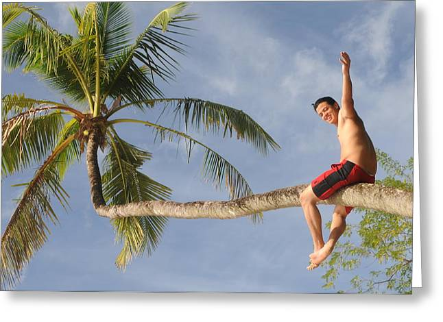 Greeting Card featuring the photograph Tropical Climb by Paul Miller