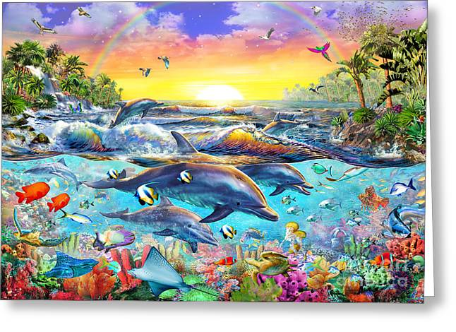 Tropical Cove Greeting Card