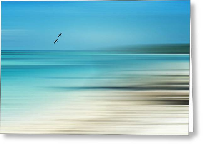 Tropical Cove Horizon Greeting Card by Deborah Smith