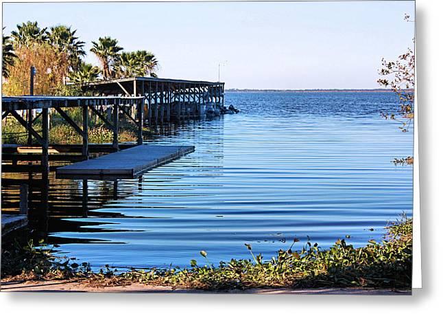 Tropical Docks Greeting Card