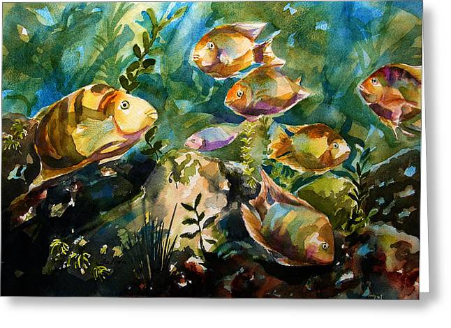 Tropical Fish 3 Greeting Card by Julianne Felton