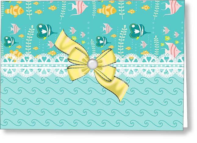 Colorful Tropical Fish Greeting Card by DMiller