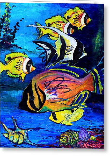 Tropical Fish Greeting Card by Karon Melillo DeVega