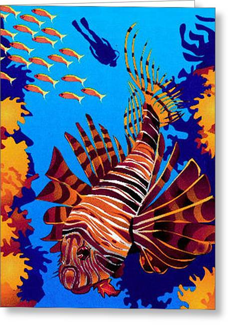 Tropical Fish Greeting Card by Prentice Morris