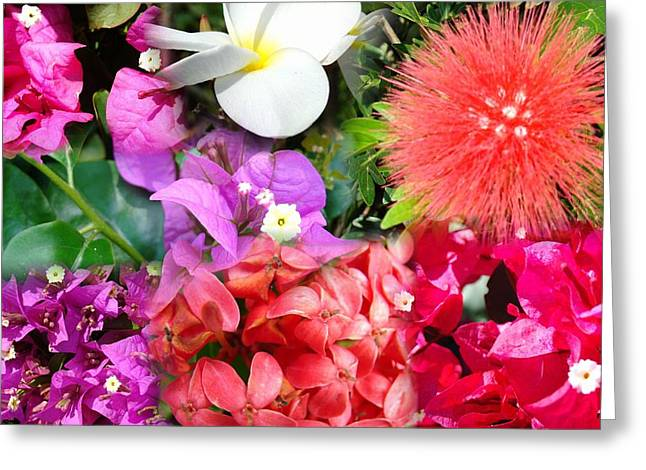 Tropical Flower Power Greeting Card