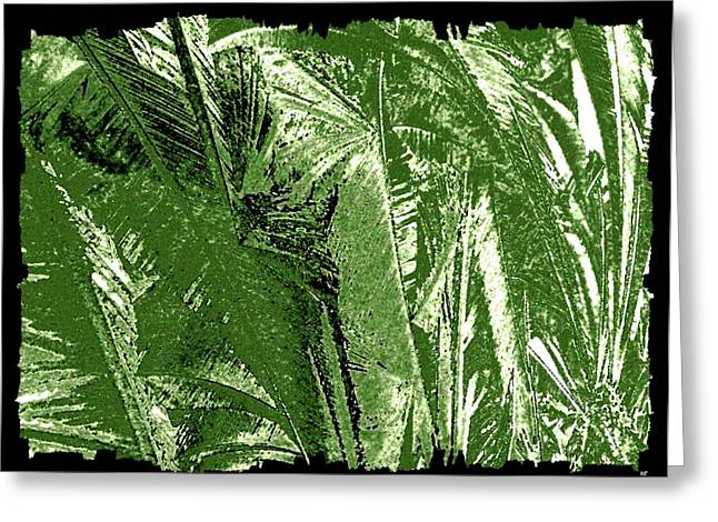 Tropical Foliage Greeting Card by Will Borden