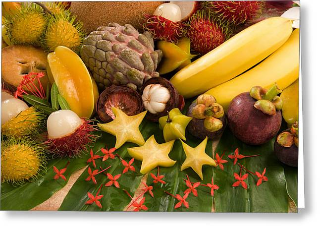 Tropical Fruit Greeting Card by Science Source