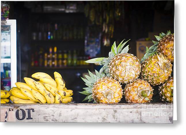 Tropical Fruits Greeting Card by Tuimages