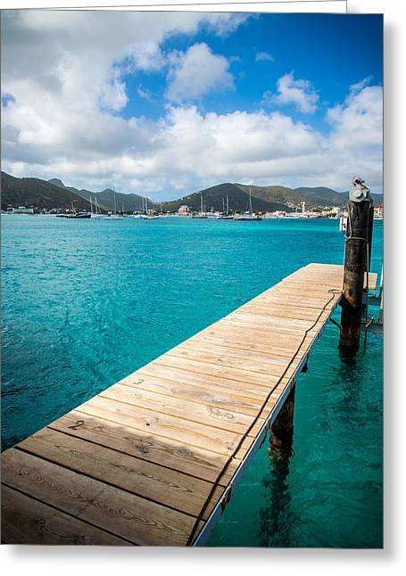 Tropical Harbor Greeting Card by Kristopher Schoenleber