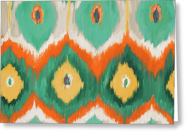Tropical Ikat II Greeting Card by Patricia Pinto
