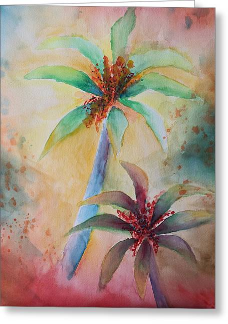 Tropical Image Greeting Card by Karin Eisermann