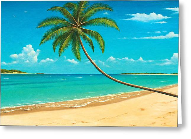 Island .oasis Greeting Cards - Tropical Island Greeting Card by James Zeger