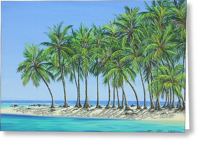 Greeting Card featuring the painting Tropical Lagoon by Jane Girardot