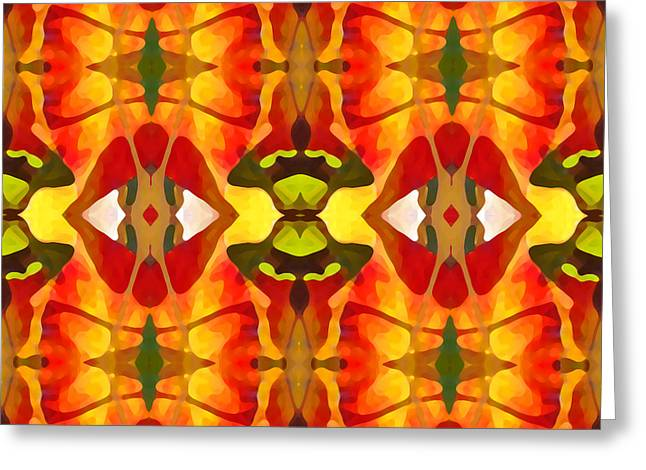 Tropical Leaf Pattern 2 Greeting Card by Amy Vangsgard