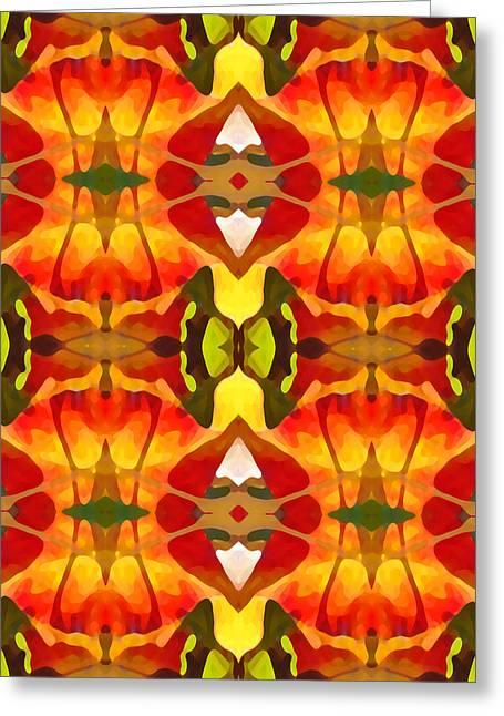 Tropical Leaf Pattern 8 Greeting Card by Amy Vangsgard