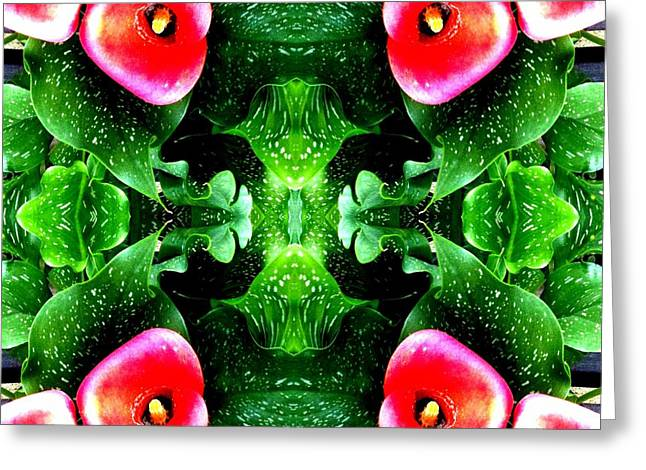 Tropical Lush-us Abstract Greeting Card by Marianne Dow