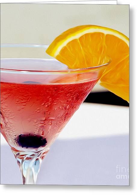 Tropical Martini Greeting Card by Jon Neidert