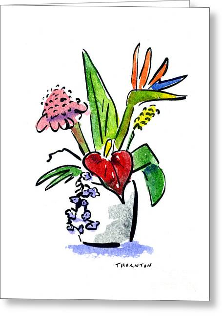 Tropical Mix Greeting Card