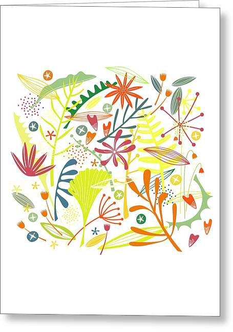 Tropical Greeting Card by Nic Squirrell