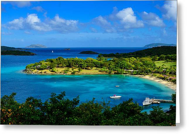 Tropical Paradise In The Virgin Islands Greeting Card by Greg Norrell