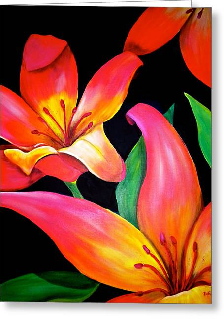 Tropical Punch Greeting Card by Debi Starr