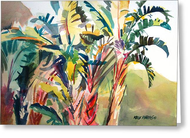 Tropical Punch Greeting Card by Kris Parins