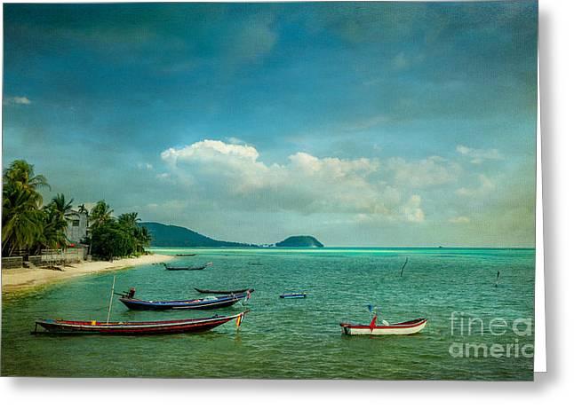 Tropical Seas Greeting Card by Adrian Evans