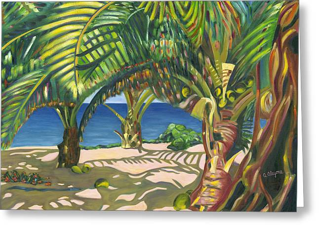Tropical Shadows Greeting Card