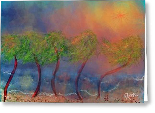 Tropical Sorm On The Way Out Greeting Card by Renee Michelle Wenker