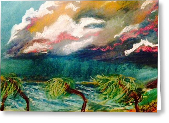 Tropical Storm Greeting Card by Renee Michelle Wenker