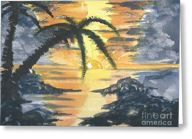 Tropical Sun Greeting Card