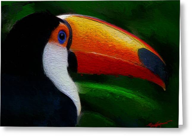 Tropical Toucan  Greeting Card by Anthony Fishburne
