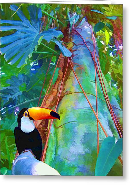 Tropical Toucan Greeting Card by Kathleen Holley