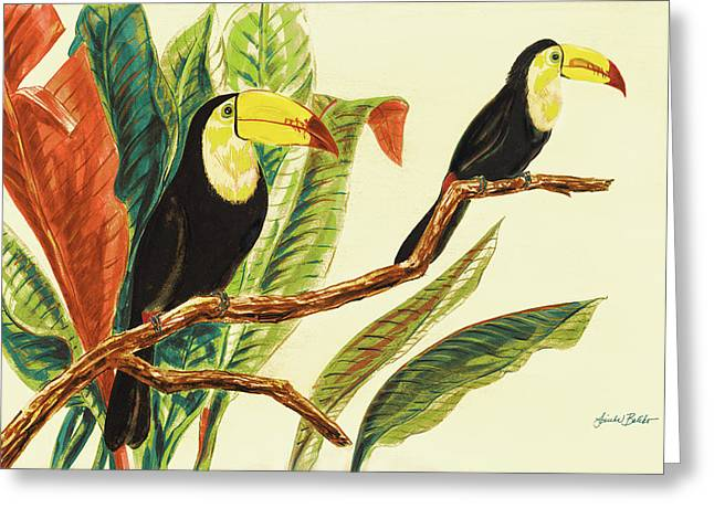 Tropical Toucans II Greeting Card