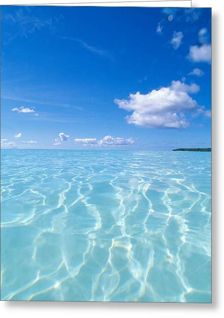 Tropical Water With Blue Skies Greeting Card