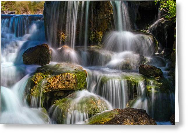 Tropical Waterfall Greeting Card by Bill Gallagher