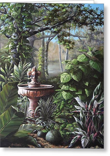 Florida Tropical Garden Greeting Card