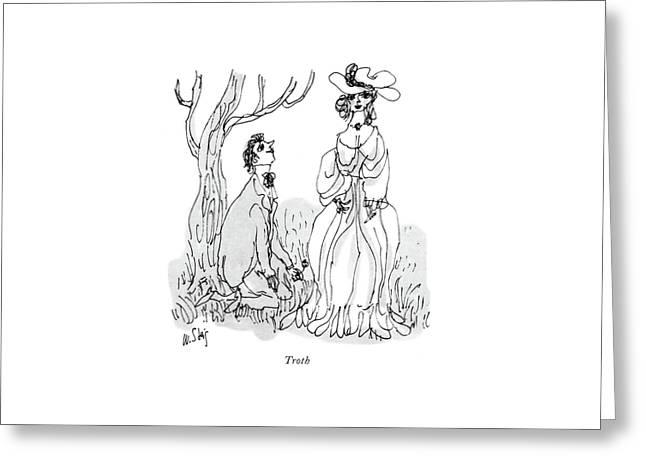 Troth Greeting Card by William Steig