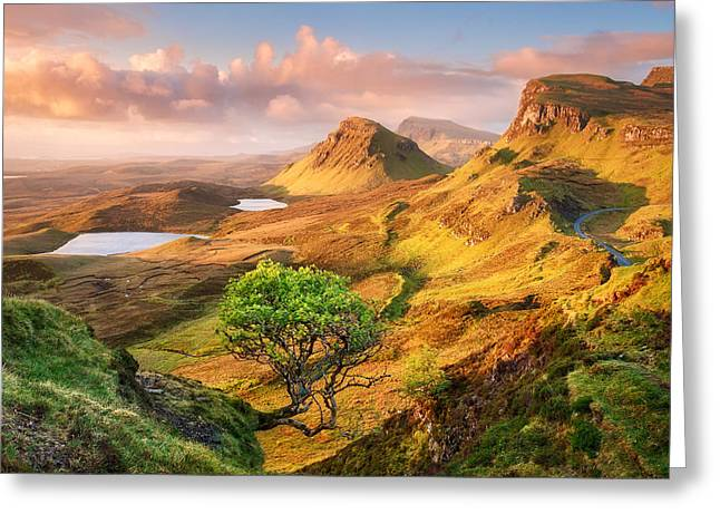 Trotternish Greeting Card by Michael Breitung