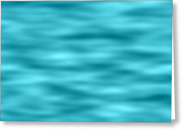 Troubled Waters Blue Texture Background Greeting Card