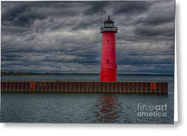 Troubled Skies Greeting Card by Ricky L Jones