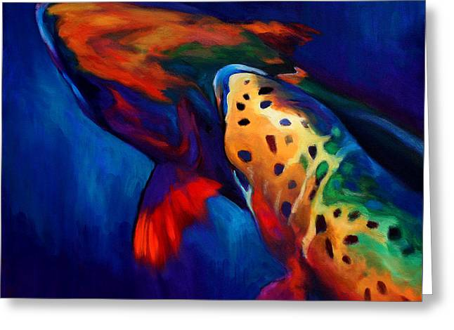 Trout Dreams Greeting Card by Savlen Art