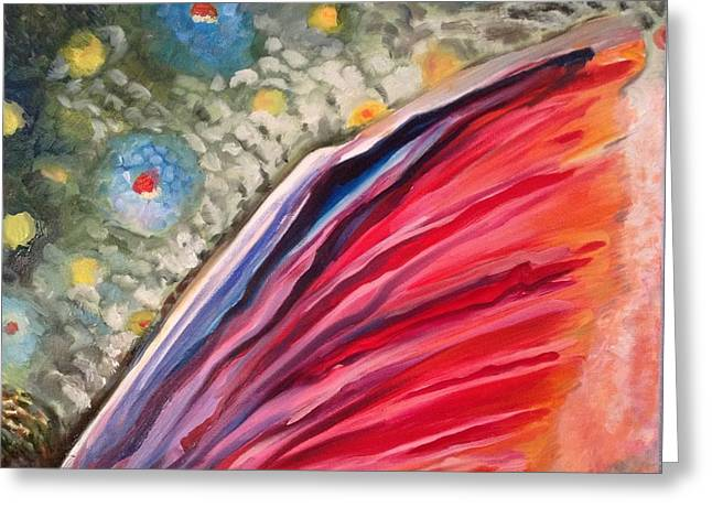 Trout Fin 1 Greeting Card by Michelle Grove