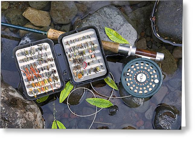 Trout Fishing Greeting Card by Buddy Mays